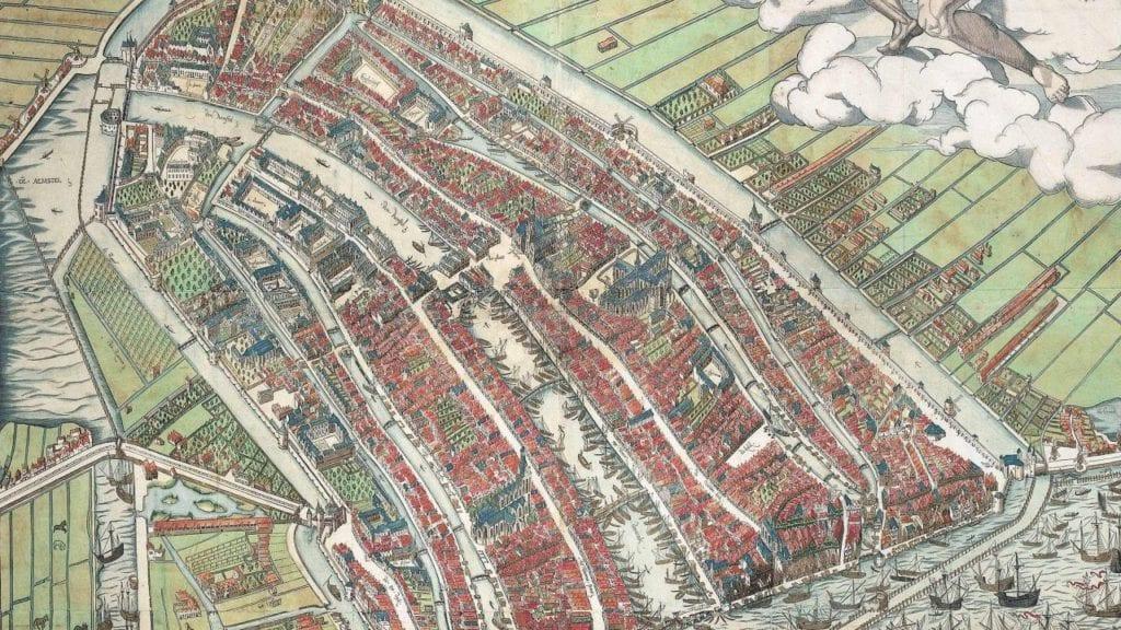 Mapa antiguo de Amsterdam