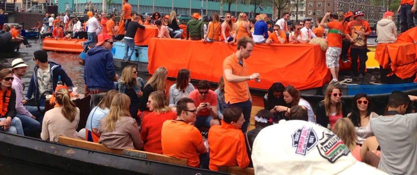 King's Day en Ámsterdam