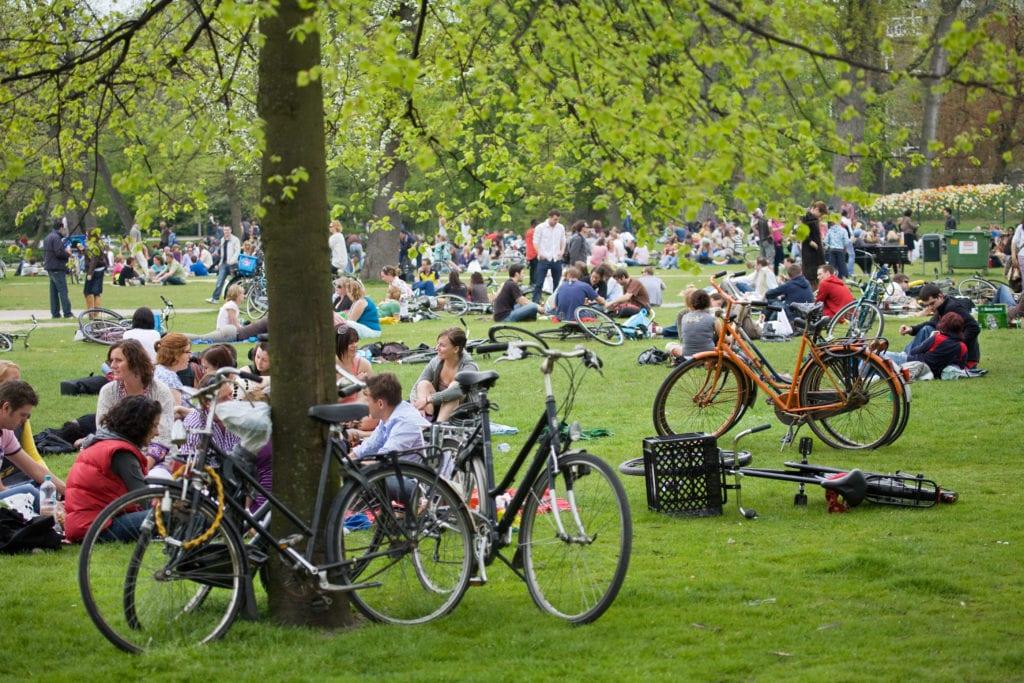 Parque Vondelpark en Ámsterdam