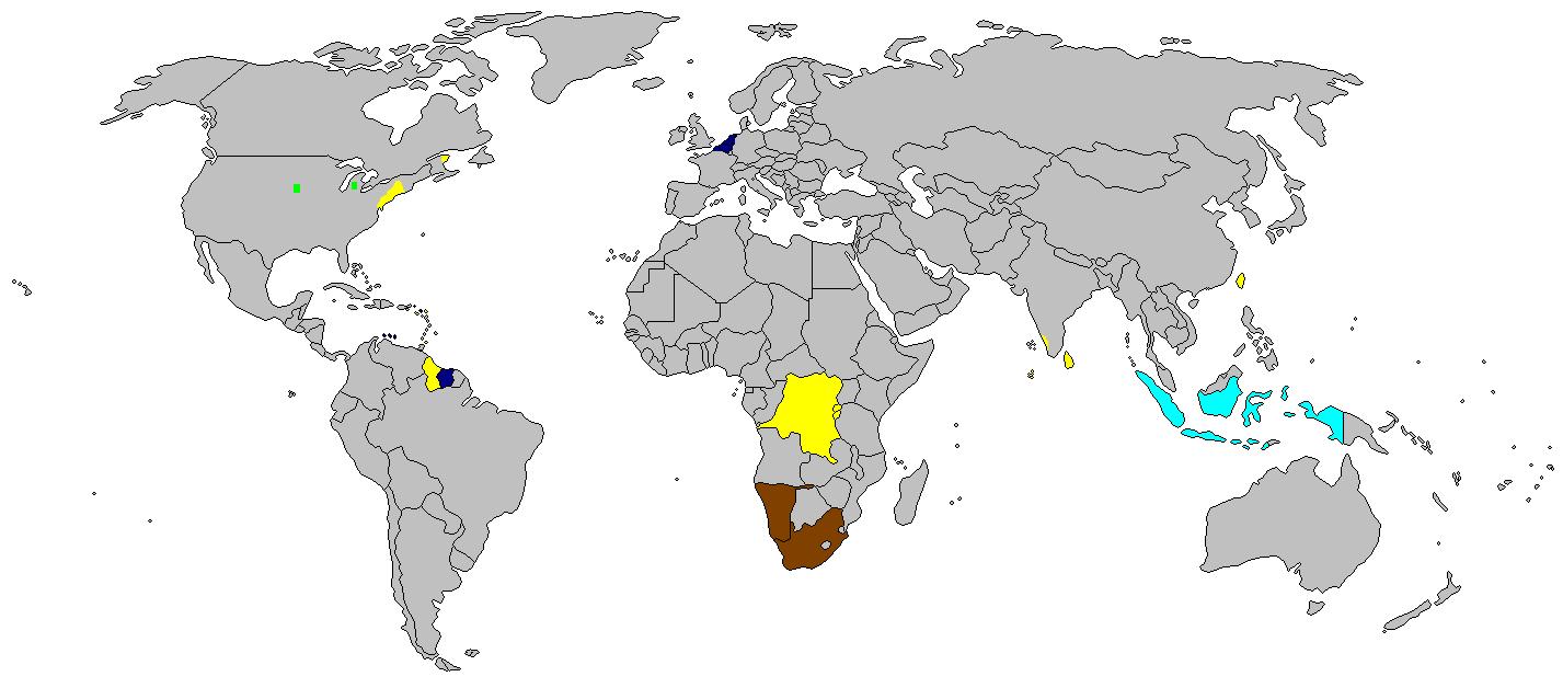 mapa del neerlandés