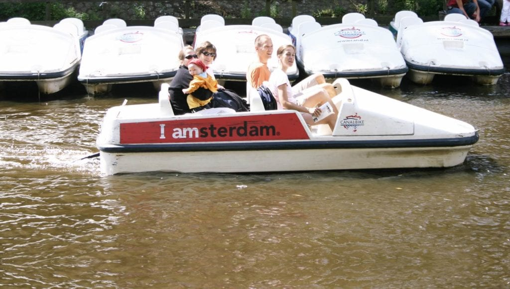 pedal boats en Amsterdam