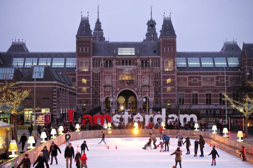 Pista de patinaje en Ámsterdam