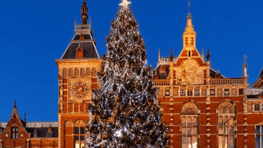 árbol de Navidad en Ámsterdam